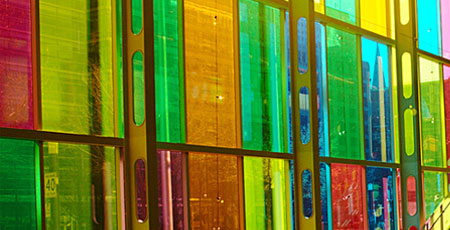gekleurde glasplaat Hilversum